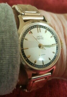Gents Smiths Empire Vintage mechanical 5 jewel  watch made in GB,  Unusual strap