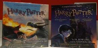 Harry Potter Books Collection Audio Books 1-3(25 cd)+4-5 (41 cd) new