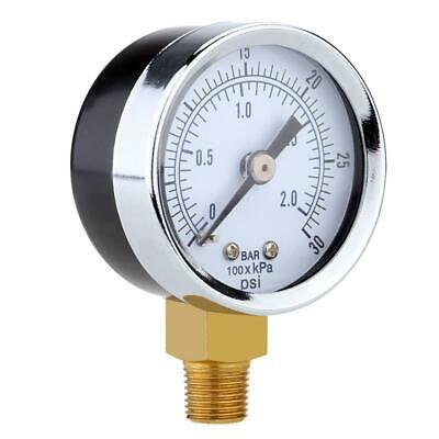 "Mini Pressure Gauge For Fuel Air Oil Or Water 1/4"" 0-200/0-30/0-60/0-15 PSI JS"