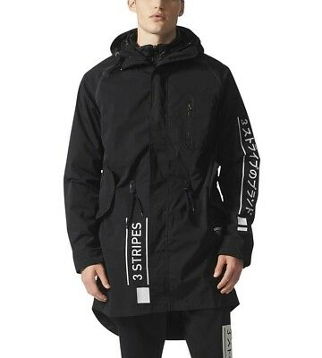 adidas Mens Large Black NMD D uj 2in1 Utility Jacket Parka