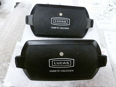 Nos Lucas Fog Light Square 8 Covers,pair, Ford Mustang 1968-68-70 Shelby