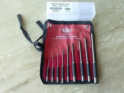 9Pcs Durable Steel Roll Pin Punch Set Tool Kit For Removing Pins #IN-GRP-0460