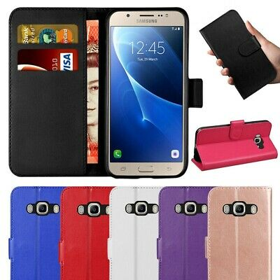 Case Cover Samsung Galaxy J3 J5 2016-2017 J4 J6 Plus Genuine Leather Wallet Case