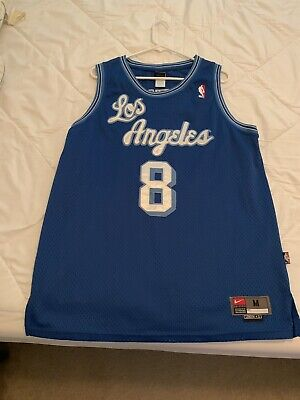 240925a6607a Kobe Bryant  8 Los Angeles Lakers Blue Throwback Classic Sewn Basketball  Jersey