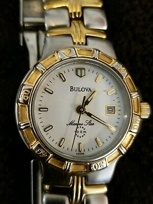 Bulova Marine Star Women's Two-Tone Gold Stainless Steel Watch 98M98