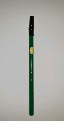 "Feadóg colour ""D"" whistle Green FEADOG Original Irish Celtic music flute tin"