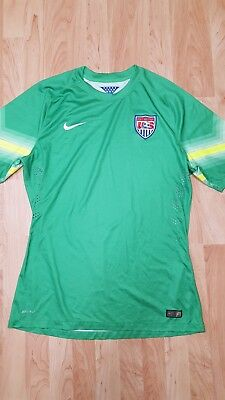 d37d83c8447 Men s XL Nike Authentic Team USA 2014 Goalkeeper Match Soccer Jersey GUC