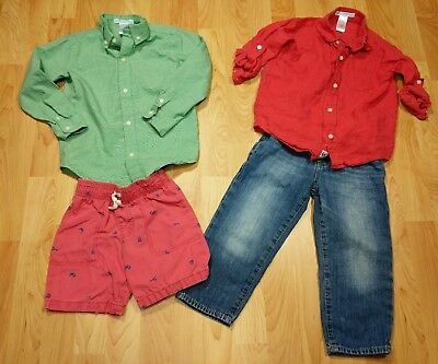 Lot of toddler Boys Janie & Jack Long Sleeve Button Up shirts baby gap jeans