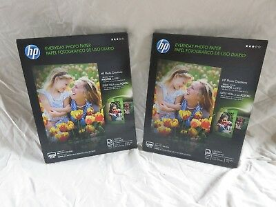 TWO Packs of HP Everyday Glossy Photo Inkjet Paper 8.5 x 11