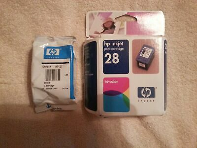 Genuine HP 27 28 Black & Tri-Color Combo Pack Ink Cartridges Sealed Expired READ
