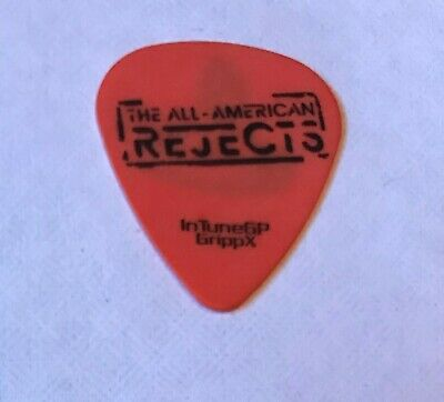 The All American Rejects - 2009 Tour Issued Guitar Pick Orange & Black