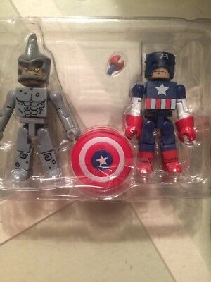 Marvel Universe Minimates Rhino and Captain America