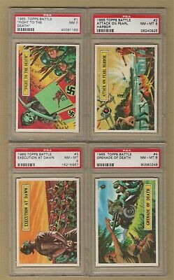 1965 Topps BATTLE 66 CARD ALL PSA GRADED COMPLETE SET   #3 on Set Registry !!
