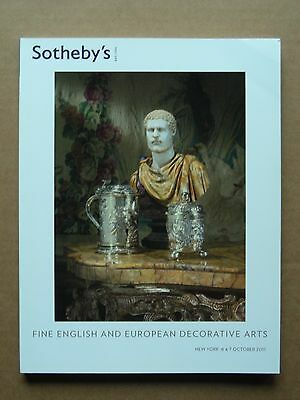 "Sotheby's New York ""Fine English And European Decorative Arts"", 6-7 October 2011"