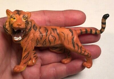 "Tiger Figurine Toy 3.5-2.25"" Collectible PVC Wildlife Safari Toy Action Figure"