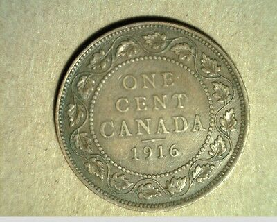 1916 Canada, Large Cent, High Grade Bronze Coins (Can-419)