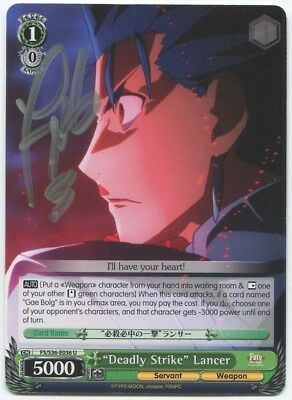 TONY OLIVER LANCER Fate/ Stay Night Signed Trading Card Auto