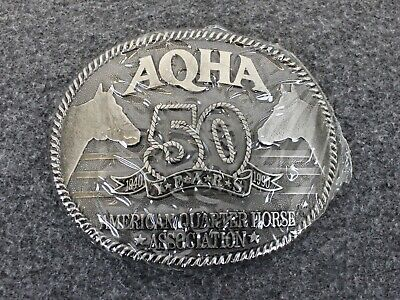 NEW Vintage 1990 AQHA 50th Anniversary Quarter Horse Zee Series Belt Buckle
