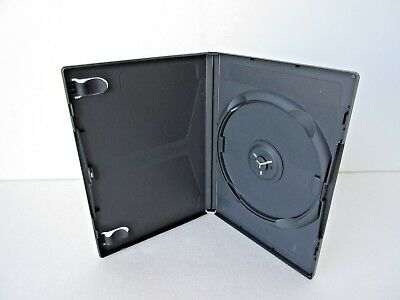 48 PREMIUM SLIM Black Single DVD Cases 7mm NEW