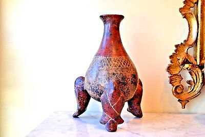"Antique Pre Columbian Art Pottery Vase 11""H"