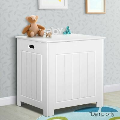Kids Bathroom Storage Childs Toy Box Organiser Laundry Cabinet Living Room White