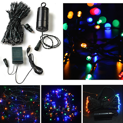 100 LED Multi-Color String Lights For Christmas Wedding Party Home Decor Outdoor