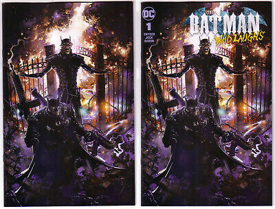 C2E2 BATMAN Who Laughs 1 CLAYTON CRAIN Trade & VIRGIN FOIL SET NM+ FREE Shipping