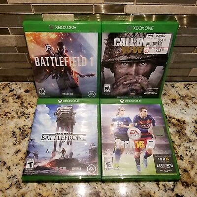 Call of Duty COD : WWII & Battlefield 1 & Star Wars & FIFA 16 (Xbox One) 4 GAMES
