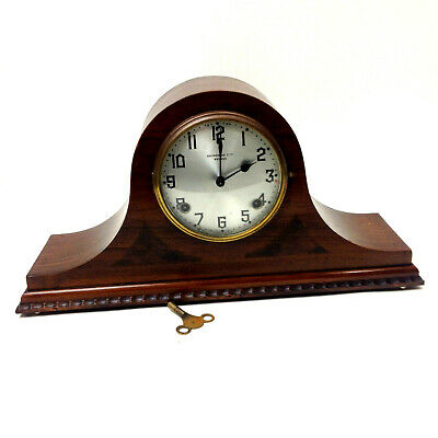 VINTAGE G SAUNDERS LTD SYDNEY SHELF MANTEL CLOCK USA Napoleon Hat