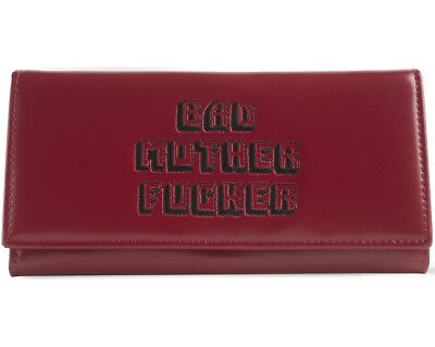 Pink Clutch Embroidered BMF (Bad Mother Fu**er) Pulp Fiction Leather Wallet
