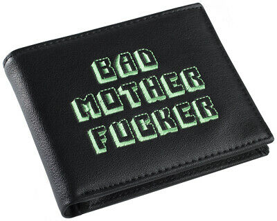 Black and Green Embroidered BMF (Bad Mother Fu**er) Pulp Fiction Leather Wallet