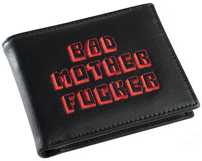 Black and Red Embroidered BMF (Bad Mother Fu**er) Pulp Fiction Leather Wallet