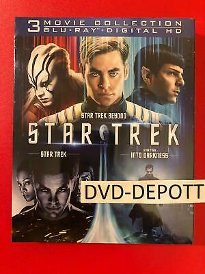 Star Trek Trilogy Collection 3 Movie Collection Blu-ray + Digital HD Free Ship