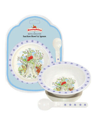 Brand New Royal Doulton Bunnykins Melamine Suction Bowl & Spoon Set 18 Mth +