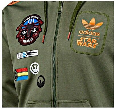 ADIDAS ORIGINALS STAR Wars X Wing Han Solo Hooded Size
