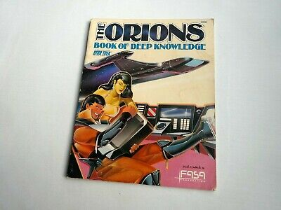The Orions Book Of Deep Conocimiento por Fasa 1987 Star Trek RPG Suplemento