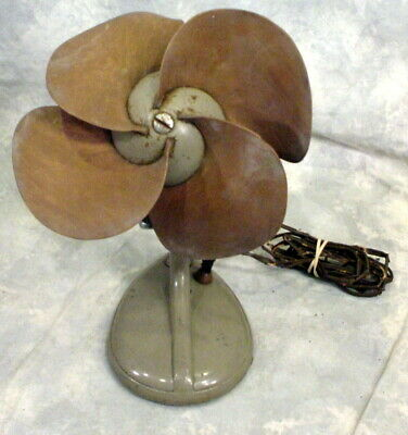 Vintage Samson Safe-Flex Rubber Bladed Osillating Fan- Art Deco-Needs New Cord