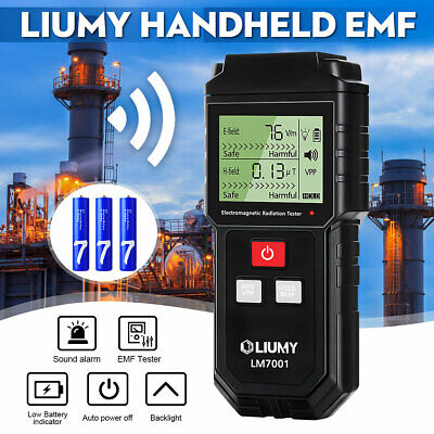 LIUMY Radiation Detector Digital Electromagnetic EMF Meter Handheld Mini EMF