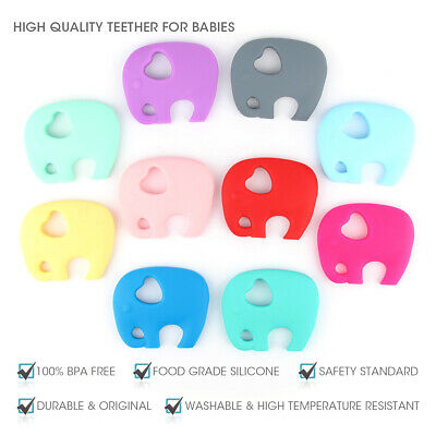 Elephant Infants Baby Teether Food Grade Silicone Soother Teething Chewable Toy