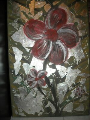 Modern art handmade decorative oil painting -leaves of silver(No Frame)