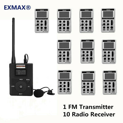 200M Long Distan FM Wireless Tour Guide Translation System For Church Training