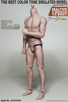 JXtoys S01 1/6 Scale Male Asian Strong Muscle Body Narrow Shoulder Action Figure