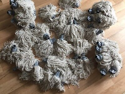 50 x 12 Twine Socket Mop Head Grey CXS12J unthreaded cotton (50 off)