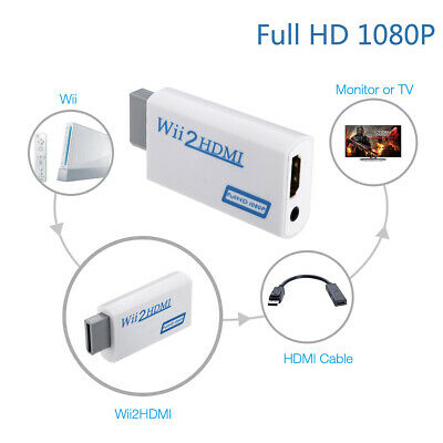 WII TO HDMI Connveter FULL HD 1080P CONVERTER ADAPTER 3.5mm AUDIO SUPPORT