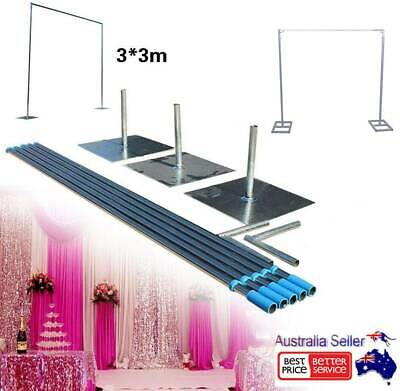Pipe and Drape Backdrop Kit Adjustable Height Pipe and Drape Backdrop Stand AU