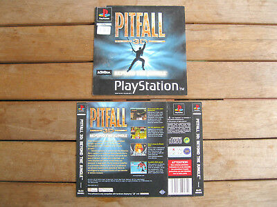 Pitfall 3D: Beyond The Jungle (1998) Playstation 1 Cover Originale, No Disco