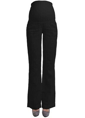 NEW - Queen mum - Black Linen Maternity Pants - FINAL SALE