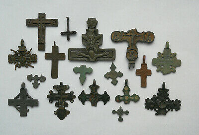 Job Lot of ancient broken bronze crosses