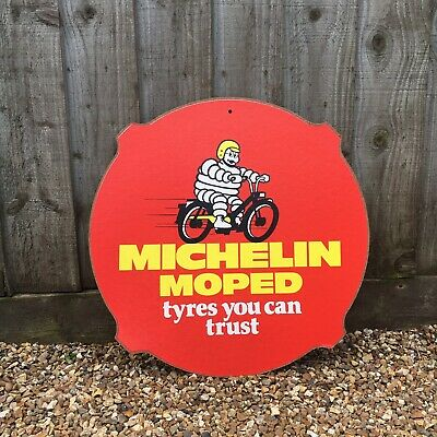 Michelin Moped Tyre Signs Vintage