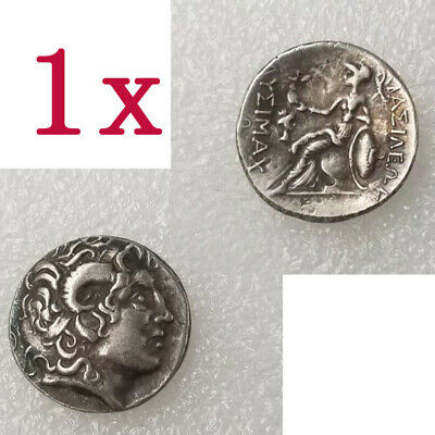 1x Ancient Alexander III The Great Greek Coin 336-323 BC Silver Plated Drachm
